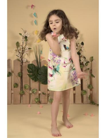 Rochie model Eva - flori si pasari