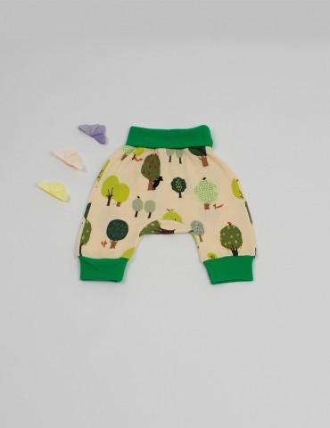 Pantaloni Copaceii veseli, din bumbac organic